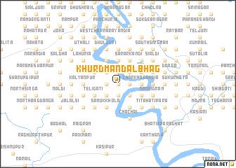 map of Khurd Mandalbhāg