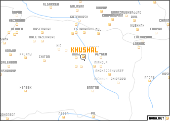 map of Khūshal