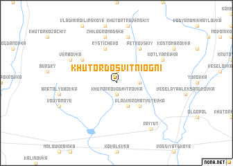 map of Khutor Dosvitni Ogni