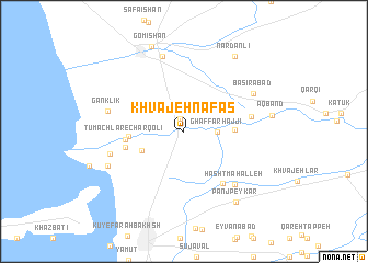 map of Khvājeh Nafas