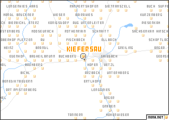 map of Kiefersau