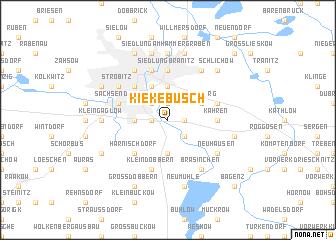 map of Kiekebusch