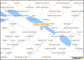 map of Kiełpiniec