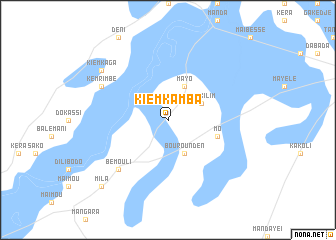 map of Kiemkamba