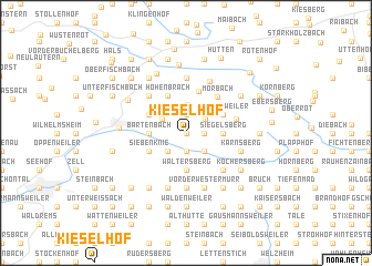 map of Kieselhof