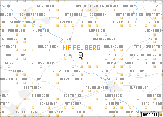 map of Kiffelberg