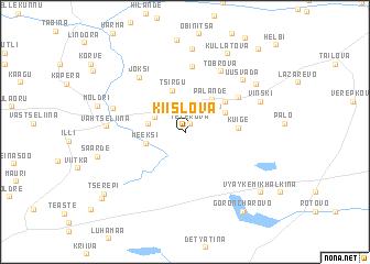 map of Kiislova