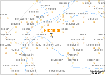 map of Kikoniai