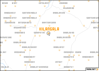 map of Kilangala