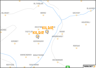 map of Kıldır