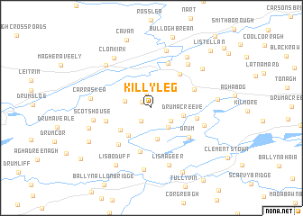 map of Killyleg