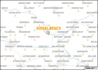 map of Kindelbrück