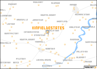 map of Kinfield Estates