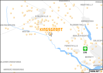 map of Kings Grant