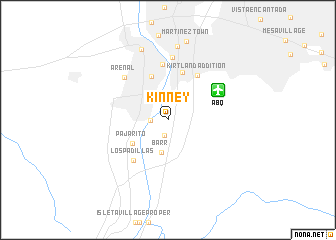 map of Kinney