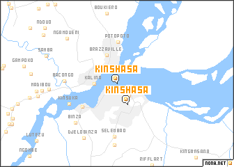 map of Kinshasa