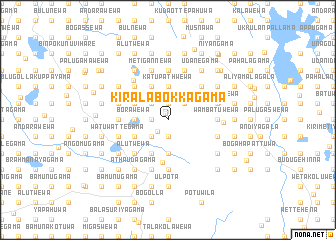 map of Kiralabokkagama