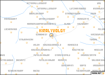 map of Királyvölgy