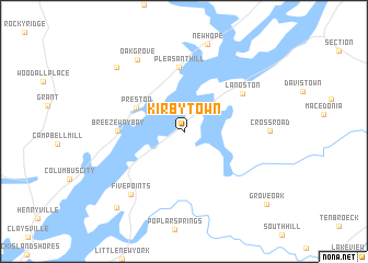 map of Kirbytown