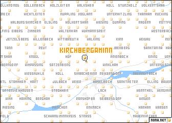 map of Kirchberg am Inn