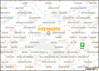 map of Kirchderne