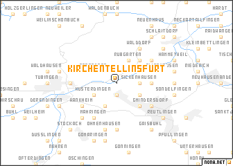 map of Kirchentellinsfurt