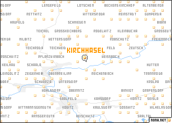 map of Kirchhasel