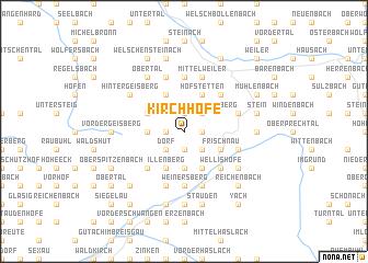 map of Kirchhöfe