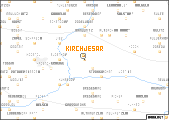 map of Kirch Jesar