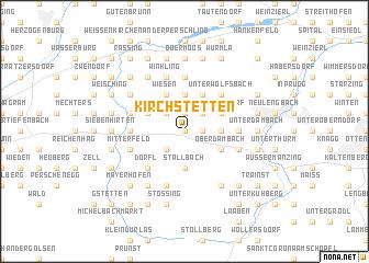 map of Kirchstetten
