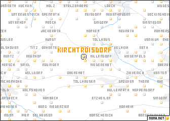 map of Kirchtroisdorf