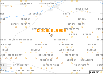 map of Kirchwalsede