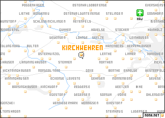 map of Kirchwehren