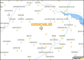 map of Kīreh Chālān