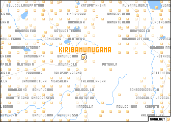map of Kiribamunugama