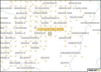 map of Kiriwanagama
