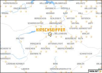 map of Kirschseiffen