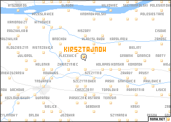 map of Kirsztajnów