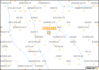 map of Kisdiós