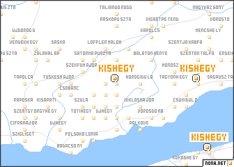 map of Kishegy