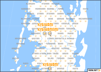map of Kisiwani