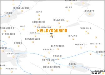map of Kislaya Dubina