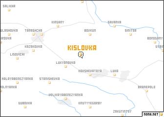 map of Kislovka