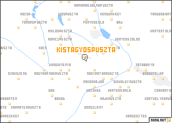 map of Kistagyospuszta