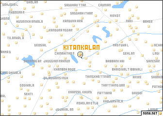 map of Kītan Kalān