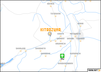 map of Kita-ōzuma