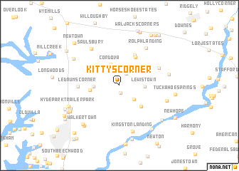 map of Kittys Corner