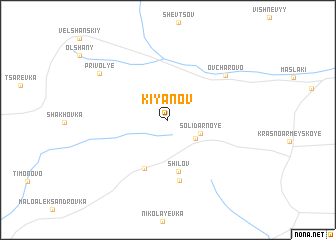 map of Kiyanov