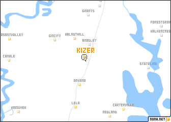 map of Kizer