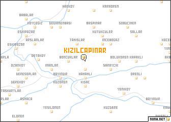 map of Kızılcapınar